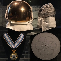 I cant define spaceporn but I know it when I see it Buzz Aldrins extravehicular visor and gloves from Apollo  the star chart Buzz used to adjust the guidance system shortly before leaving the lunar surface and Neil Armstrongs Congressional Space Medal of