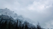 I captured a photo in Banff that looks strikingly similar to the mountains in Skyrim