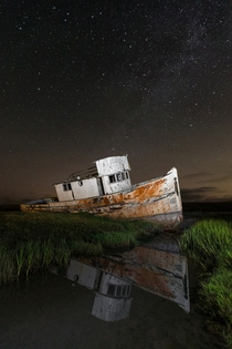 I captured one of the last photographs of the fully intact SS Point Reyes before a careless photographer burned up a portion of the stern IG caseymac