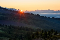 I captured the break of dawn during a recent backpacking trip to Mount Baker WA