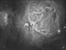 I captured this image of the Orion Nebula through a hydrogen alpha filter