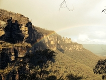 I captured this scene at the blue mountains