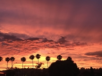 I caught this nice sunset while pumping gas recently Carlsbad CA