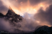 I could scarcely believe my eyes when this sunset storm engulfed and flowed around Minaret Peak Mammoth Lakes CA