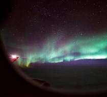 I couldnt believe when I saw the northern lights out my plane window