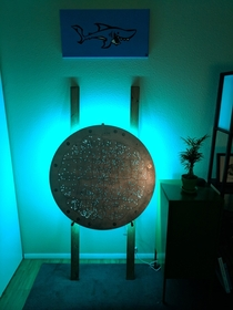 I created an ambient light out of an SDSS telescope plate AlbumDetails in comments