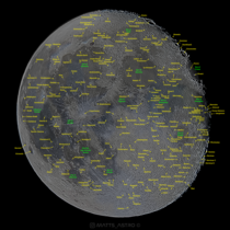 I created my own map of our Moon by taking  images of it GB and labelling as many craters as I could