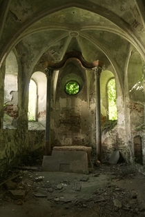 I discovered a Gothic Chapel - abandoned for over  Years x  more in the Comments
