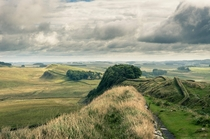 I dont know if this will be allowed here but its impossible to show the stunning landscape around Hadrians Wall without showing the wall itself