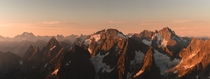 I dont often enjoy taking panoramic pictures but this particular morning was hard to resist North Cascades National Park USA