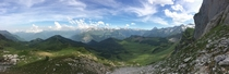 I dont see the French pyrnes on here very often so heres a panorama of the Ossau valley I took whilst hiking there