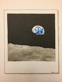 I drew my favourite space photo for Inktober this year