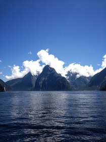 I feel like Frodo going down river Anduin Milford Sound NZ