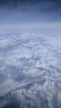I flew over the Alps today and took this picture