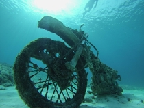 I found a motorcycle while freediving