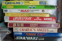 I found a stack of old retro board games in an abandoned house lots of s and s nostalgia OC x