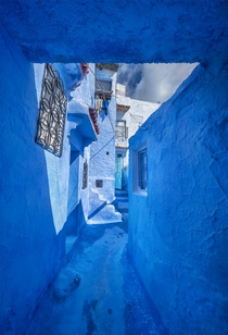 I found a town in the mountains of Morocco where everything is painted blue