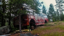 I found an abandoned bus deep in the Norwegian countryside