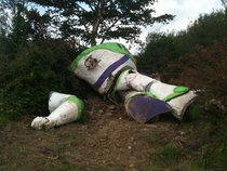 I found an abandoned Buzz Lightyear in a field