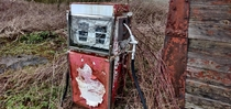 I found an abandoned petrol pump next to an abandoned garage
