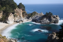 I found paradise just a few steps from Hwy  - McWay Falls California