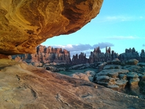 I get paid to come here Took this with my phone in Canyonlands NP