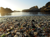 I give you Glass Beach in California