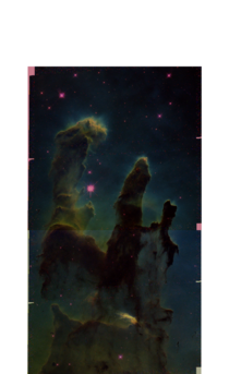 I got  images of the Eagle Nebula from the Hubble archives and decided to colour them myself I couldnt quite get them to match up