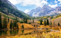 I got married last week this was the backdrop Maroon Bells - Aspen Colorado