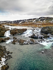 I got married yesterday in Iceland Heres one of the places we stopped at for photos Glanni waterfall Iceland OC