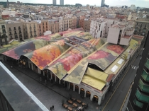 I got the chance to get this view of the roof of Santa Caterina market in Barcelona Catalonia By Enric Miralles