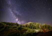 I got up on the mountain at Squaw Valley last night during the Thievery Corporation concert to take some photos of the glorious night sky