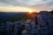 I guess it was worth getting up at am for this Blackrock Summit sunrise in Shenandoah National Park