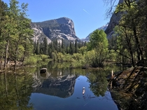 I guess thats why its called Mirror Lake  Yosemite CA