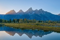 I had to try and capture the rays of light stretching over the Tetons during this fall sunset