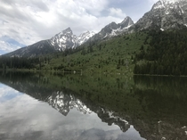 I have a thing for symmetry Leigh Lake Grant Teton National Park