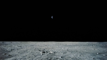 I have just seen the first man is earth that small from moon googling it gave just other pictures and answersStupid question perhaps free to downvoteI hope you can teach me im curious about space