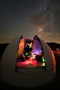 I install telescopes for a living and enjoy capturing behind the scenes photos while at the observatories such as this -second photo from New Mexico with the Milky Way and a PlaneWave Instruments CDK system