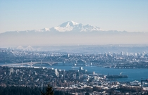 I just figured out Ive been posting images wrong Heres another try at Vancouver BC with Mt Baker WA towering  miles in the distance