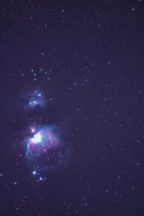 I just recently got into Astrophotography and this is the best picture Ive taken of the Orion Nebula