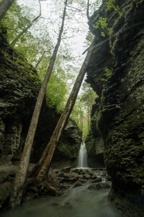I kept getting rained on when I tried to shoot this but I love this slot canyon so much Fuzzybutt Falls Arkansas