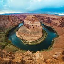 I know Horseshoe Bend gets posted a lot but I recently was there and got a shot Its more magnificent in person than any photos can show OC