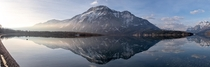 I know its gonna look super tiny on here but this is a panorama I made in Waterton Alberta