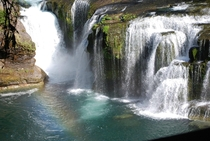 I know its not the best pic but I took it myself Lewis River Falls Washington USA