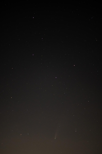 I know this isnt nearly as good as the other posts but happy to get the comet underneath the dipper all my photography skills are elsewhere so never really tried astrophotography before