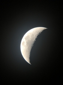 I know this moon aint much but it was taken with an average smartphone through a telescope a guy set up for a free event because everyone should get a chance to first hand love space