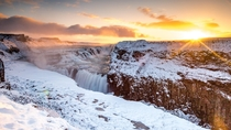 I know this sub has its fair share of Iceland already but I wanted to share my photo of Gullfoss at sunrise