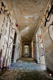 I like decaying hallways at low anglesCamp  Abandoned WW POW Camp Ontario Canada  x