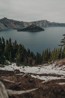 I like to think of myself as someone who pays attention and appreciates some of the wonders our world has to offer I had no idea Crater Lake even existed until a week ago A wonderful place I hope to visit again when the weather is better OC