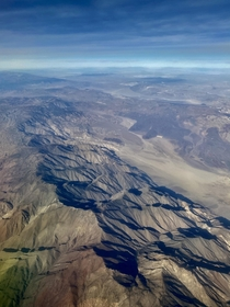 I Love Flying Over Nevada  Somewhere in western NV between LAS and SJC x